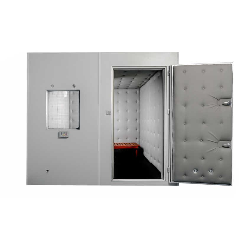 Audiometryczna kabina ciszy Kc-250 do badania słuchu.